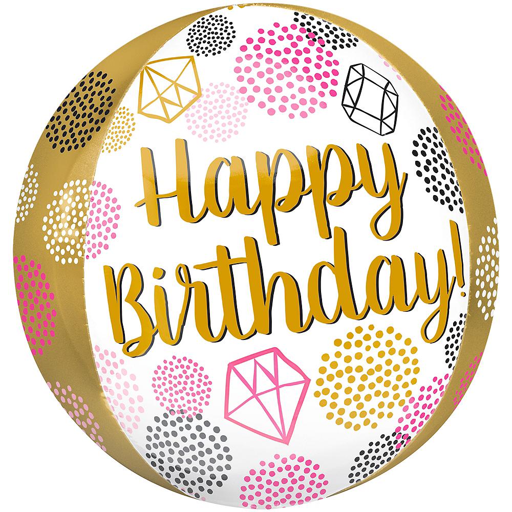 Happy Birthday Gems Balloon - Orbz Image #1