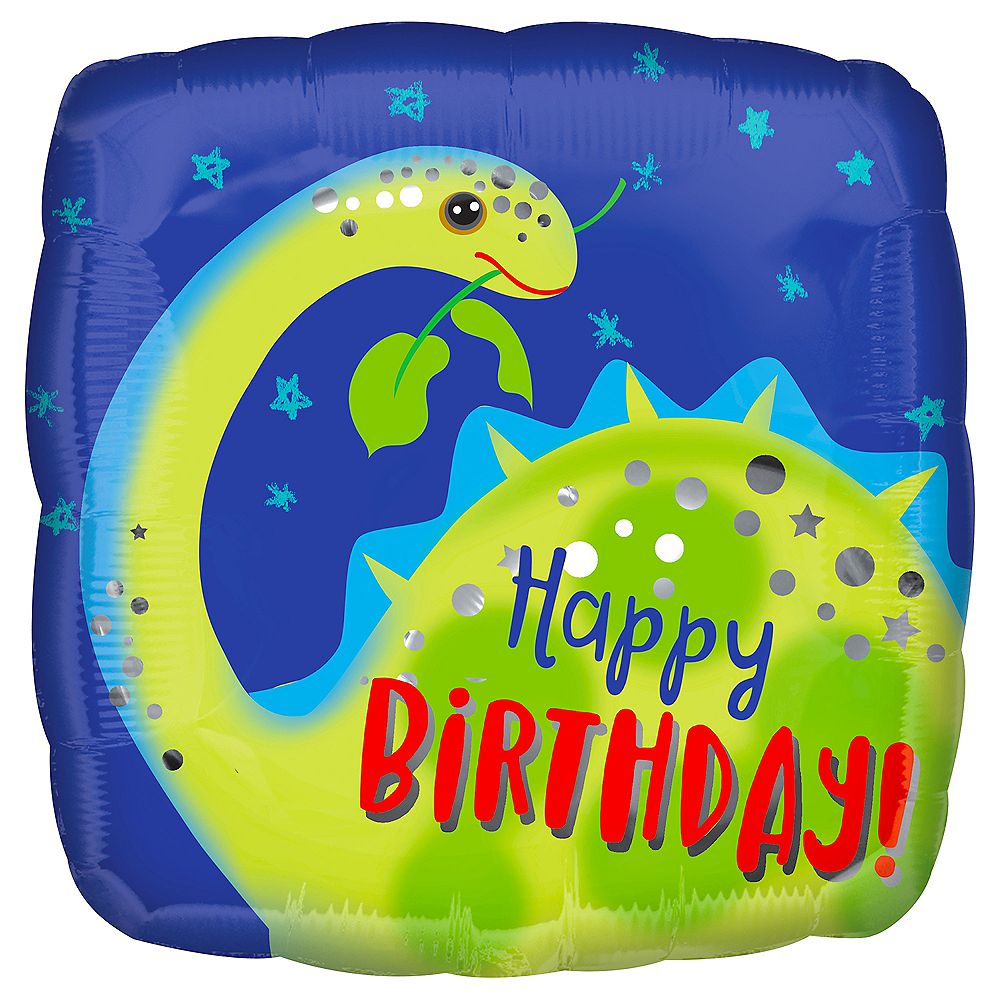 Brontosaurus Happy Birthday Balloon Image #1