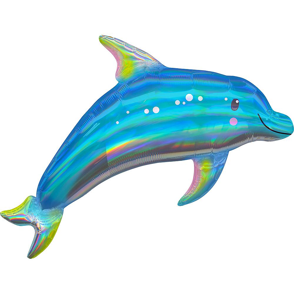Giant Iridescent Dolphin Balloon Image #1