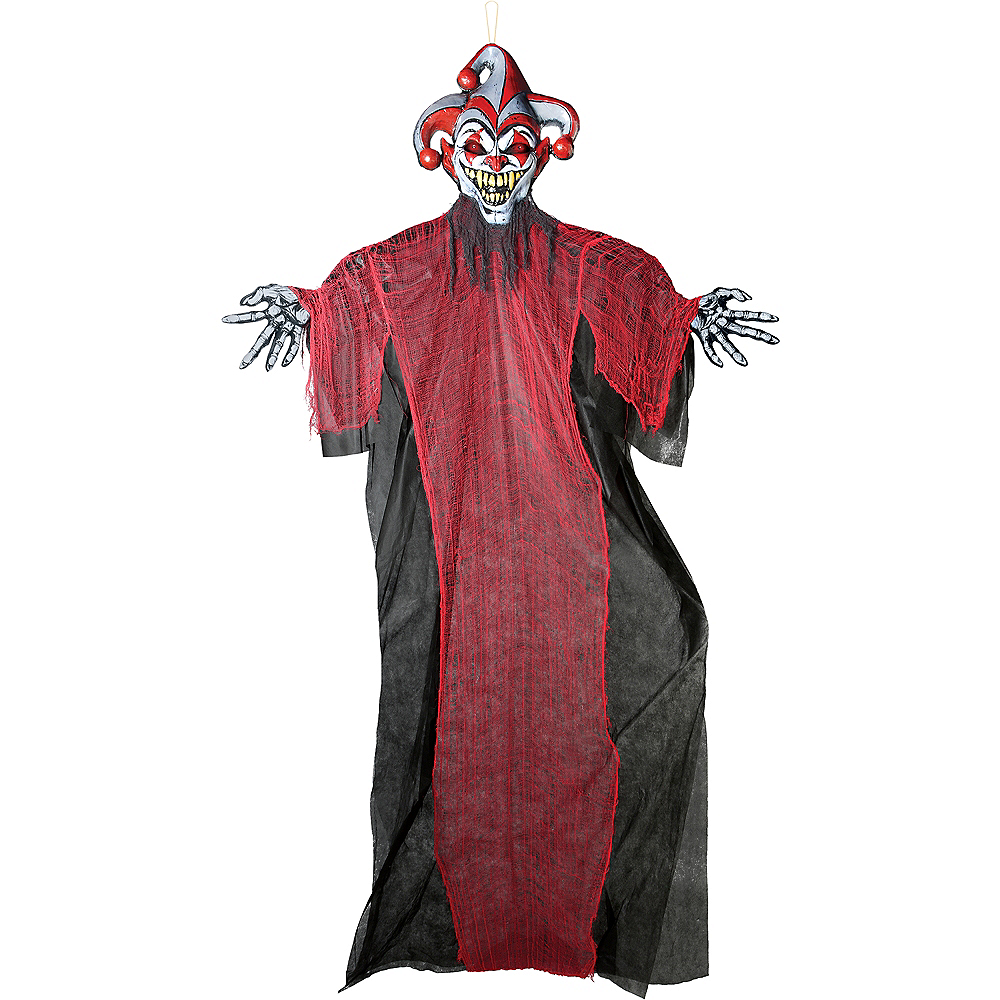 Nav Item for Light-Up Giant Creepy Jester Decoration Image #1