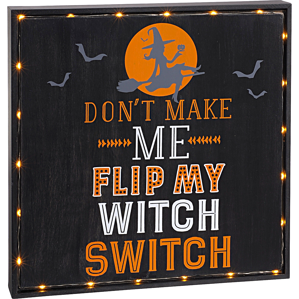 Light-Up Witch Switch Sign Image #1