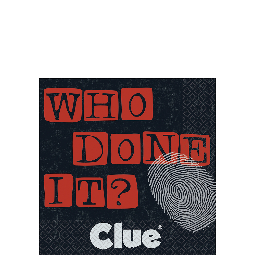 Clue Who Done It Beverage Napkins 16ct Image #1