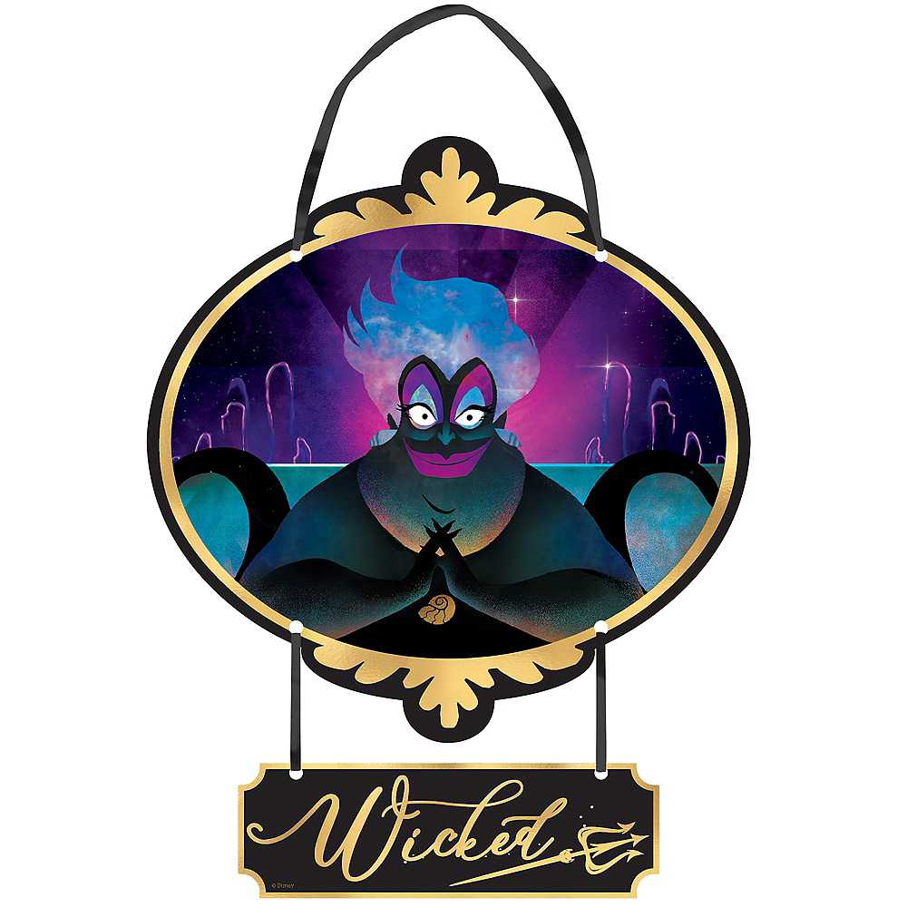 Mini Wicked Ursula Disney Stacked Sign - Disney Villains Image #1