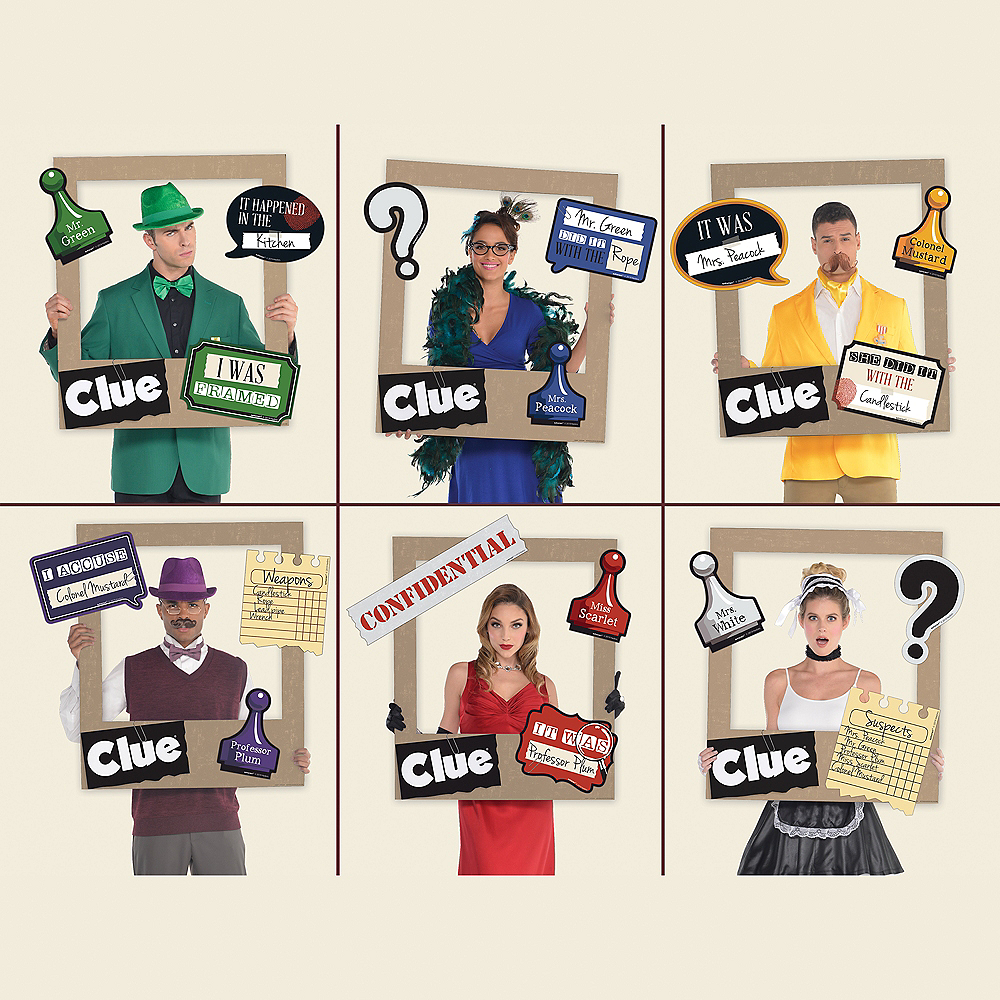 Giant Clue Playing Card Photo Frame Kit 19pc Image #1