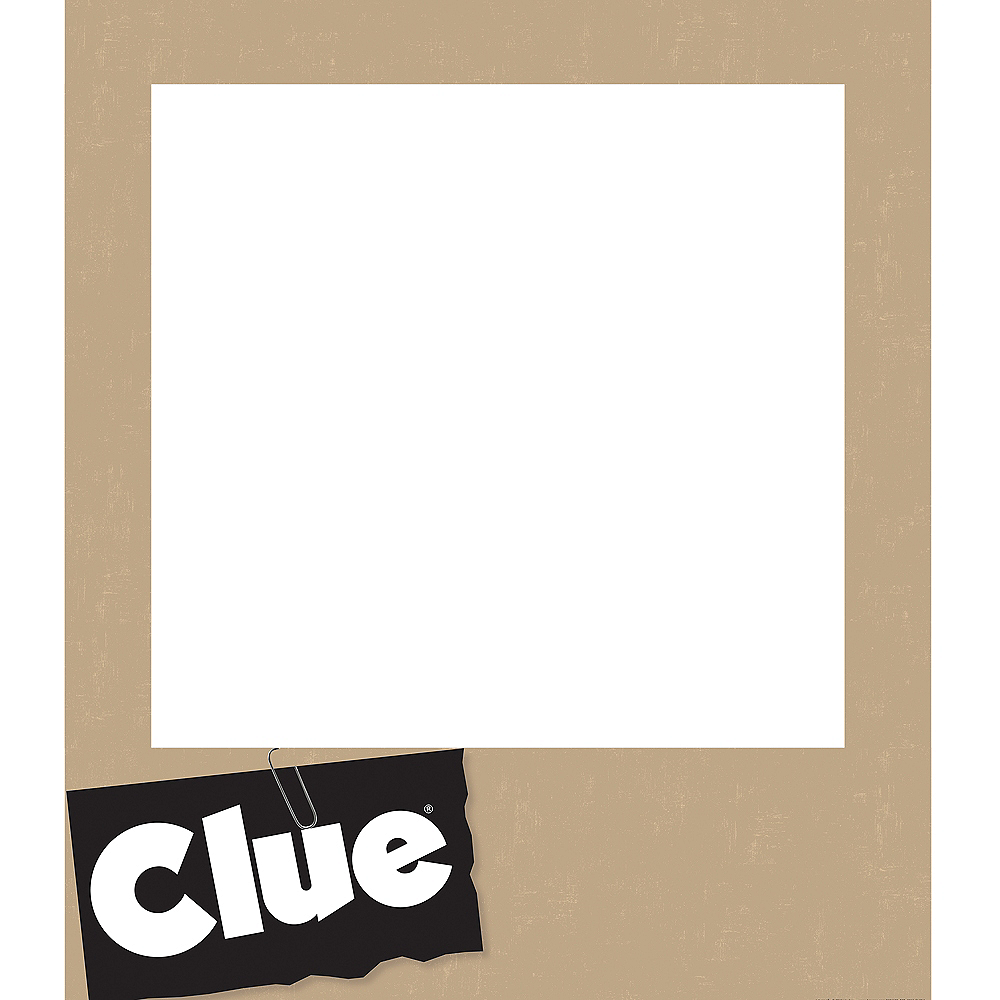 Giant Clue Playing Card Photo Frame Kit 19pc Image #2