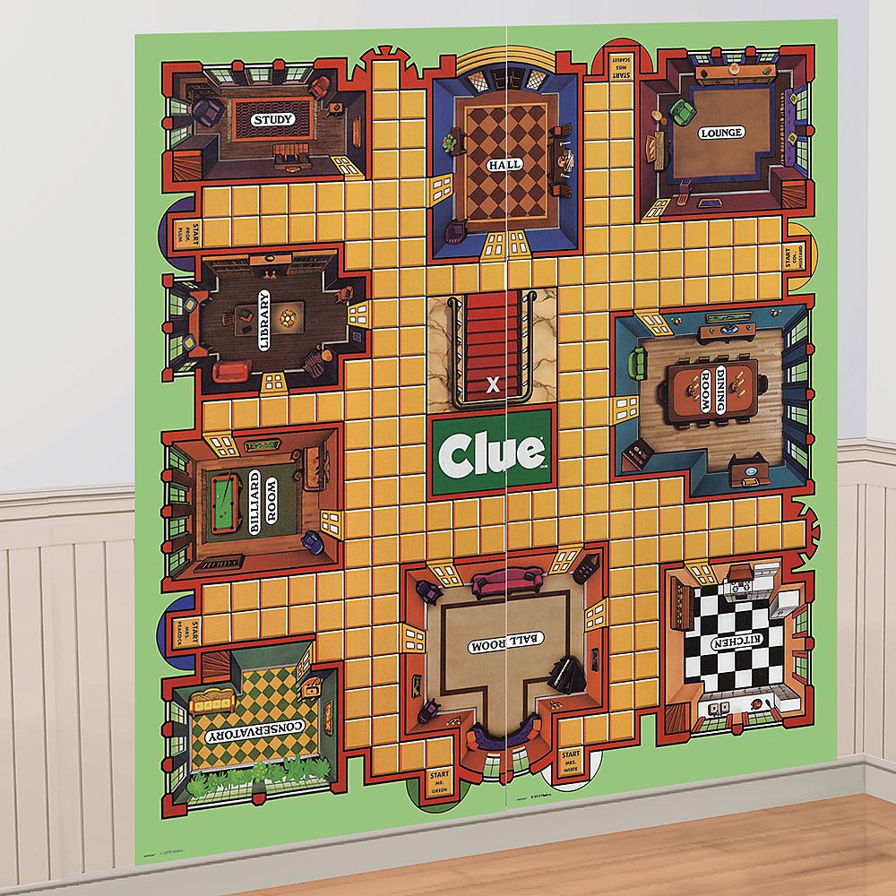 Clue Game Board Scene Setter 2pc Image #1