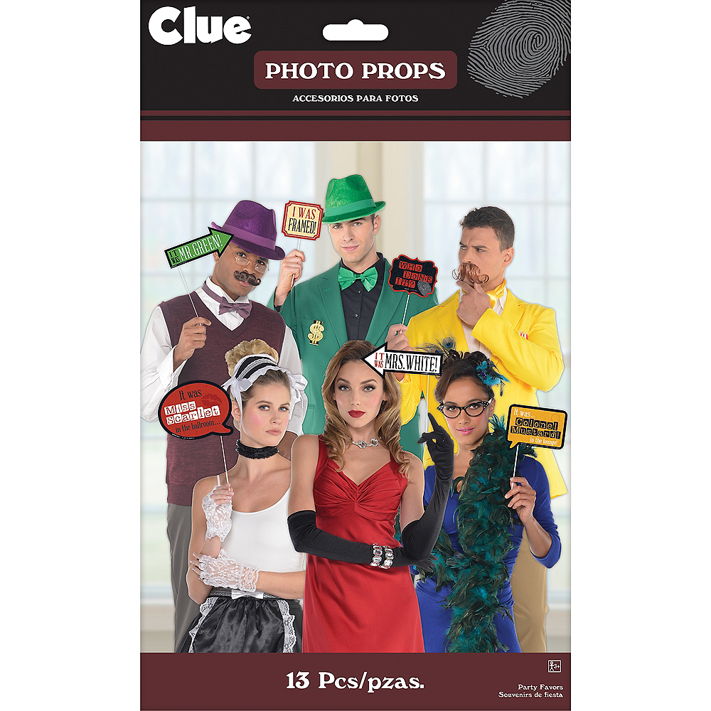Clue Photo Booth Props 13ct Image #2