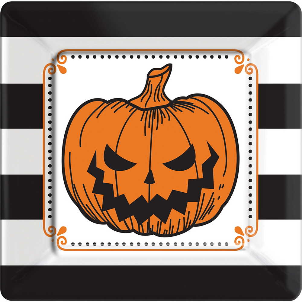 Hallows' Eve Square Dinner Plates 18ct Image #1