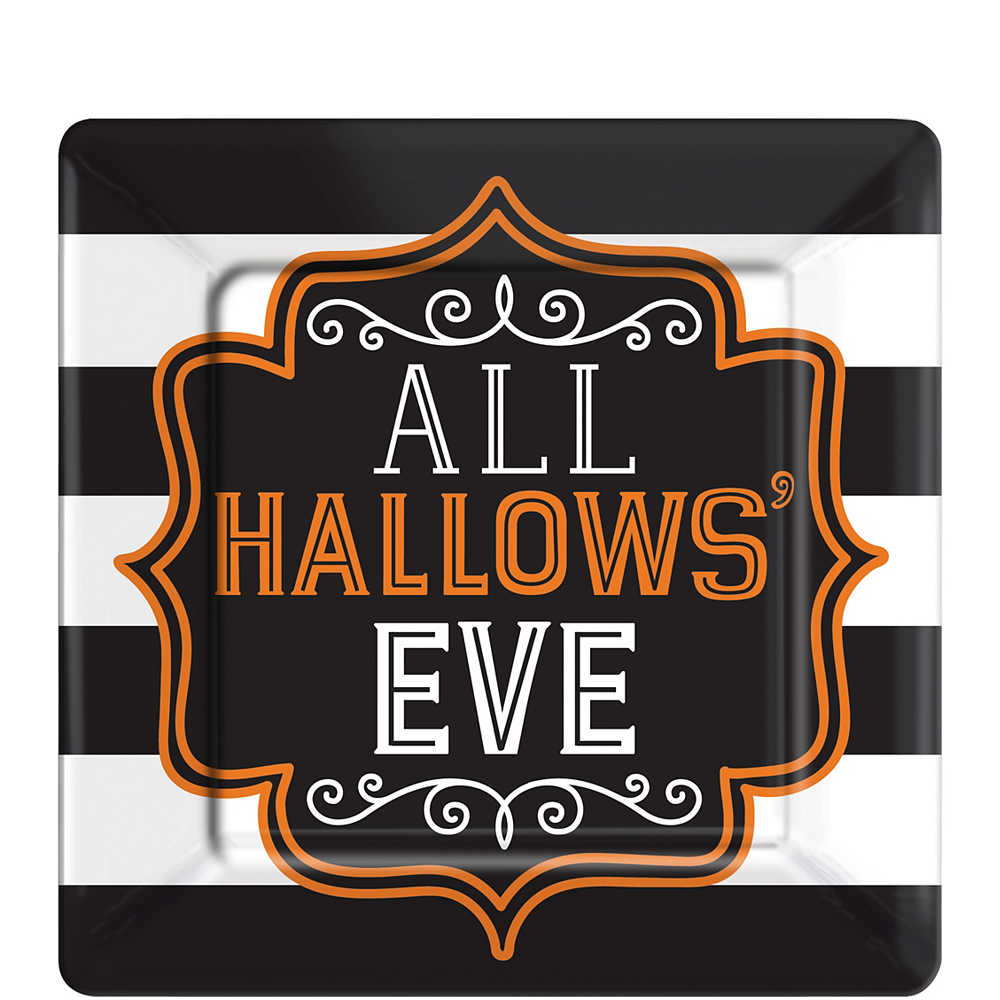 Nav Item for Hallows' Eve Square Dessert Plates 18ct Image #1