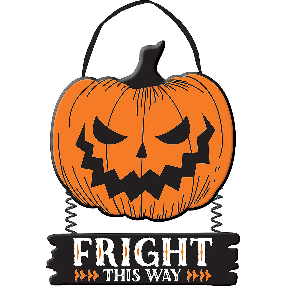 Fright This Way Halloween Stacked Sign Image #1