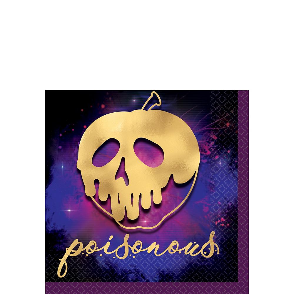 Metallic Gold Poisonous Apple Disney Villains Beverage Napkins 16ct Image #1