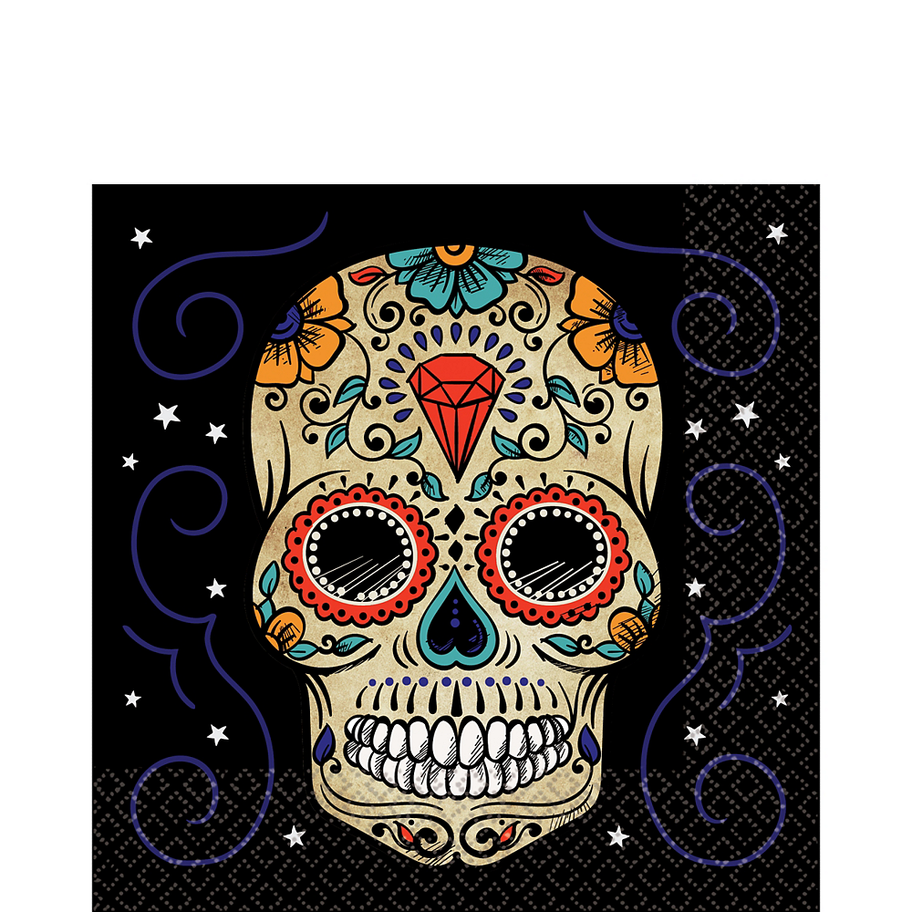 Sugar Skull Lunch Napkins 36ct Image #1
