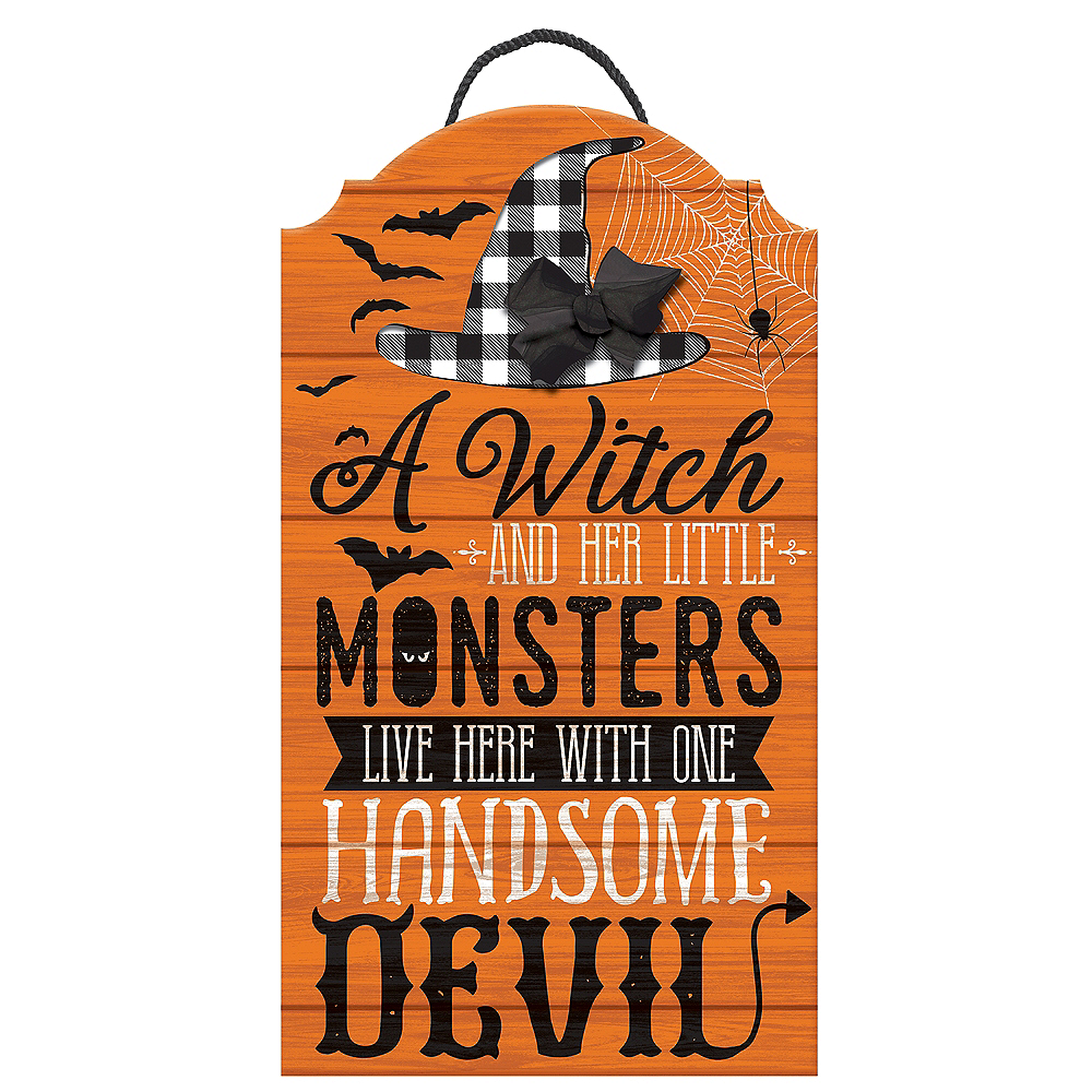 Rustic Family Halloween Easel Sign Image #1