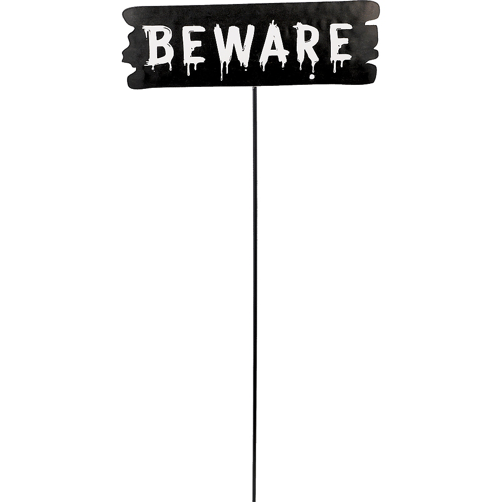 Nav Item for Beware Halloween Yard Stake Image #1