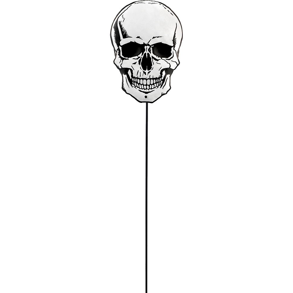 Nav Item for Skull Halloween Yard Stake Image #1