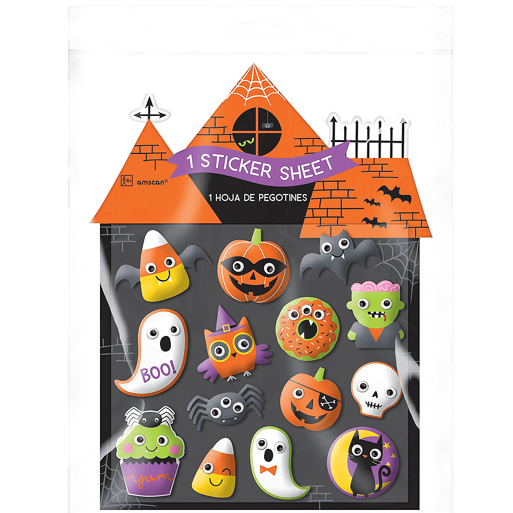 Halloween Puffy Stickers 1 Sheet Image #2