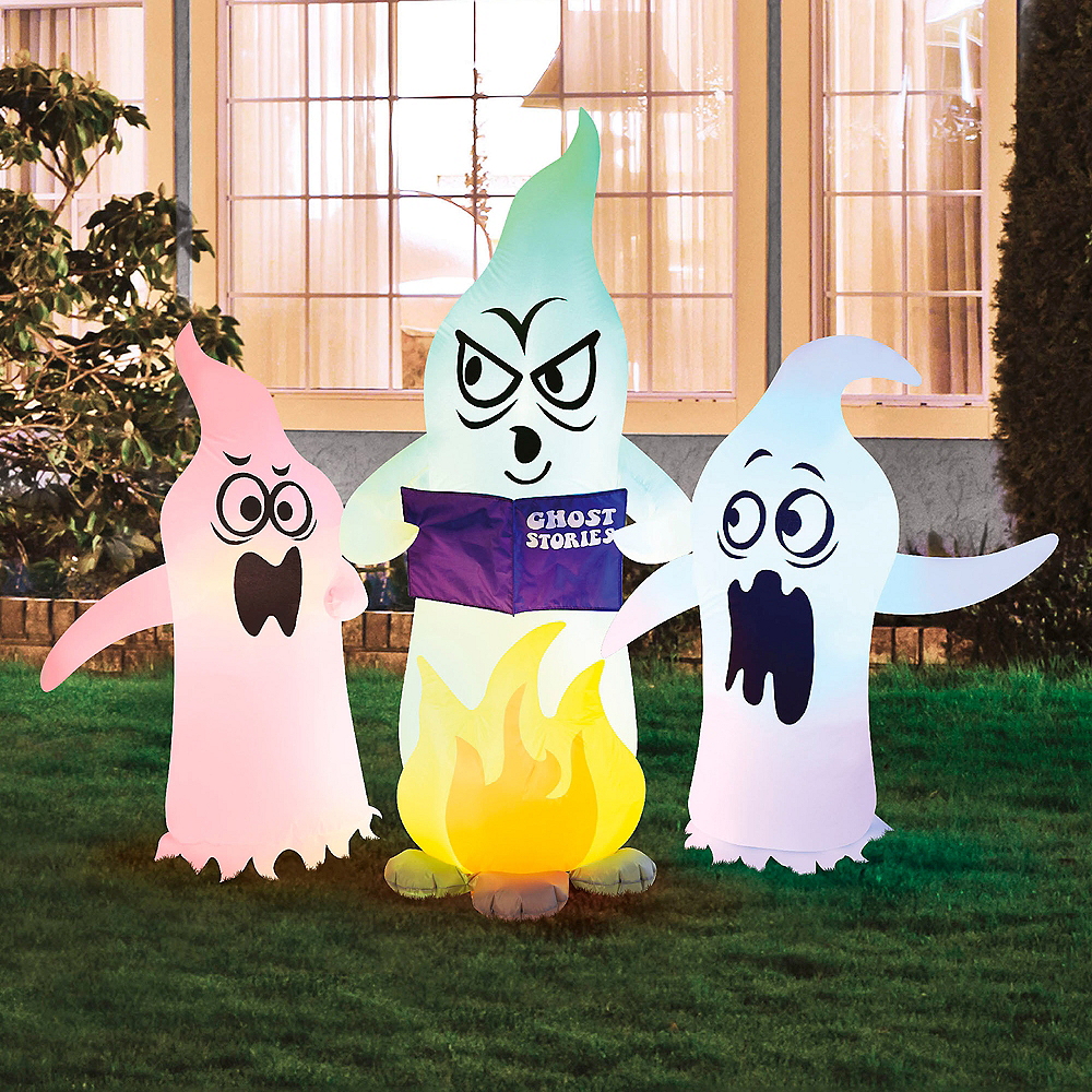 Light-Up Inflatable Campfire Ghosts Image #1