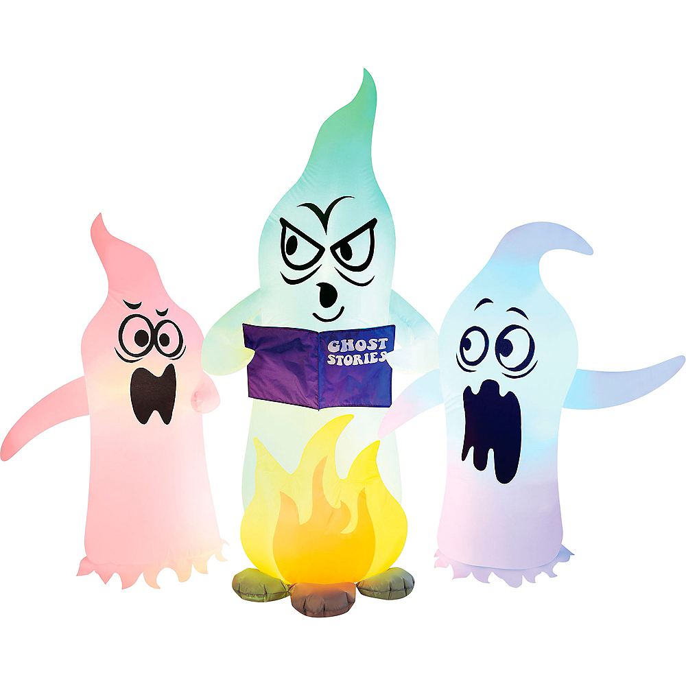Light-Up Inflatable Campfire Ghosts Image #2