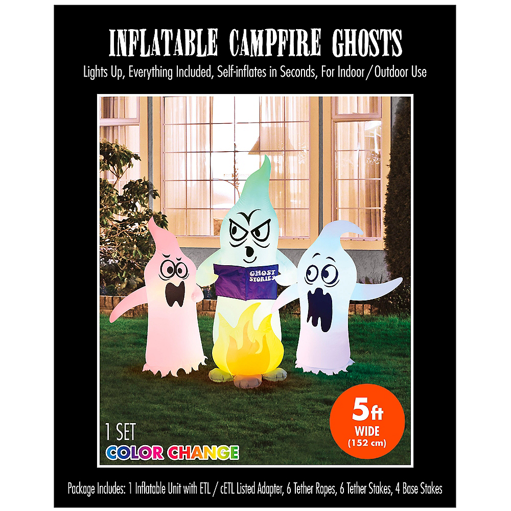 Light-Up Inflatable Campfire Ghosts Image #3