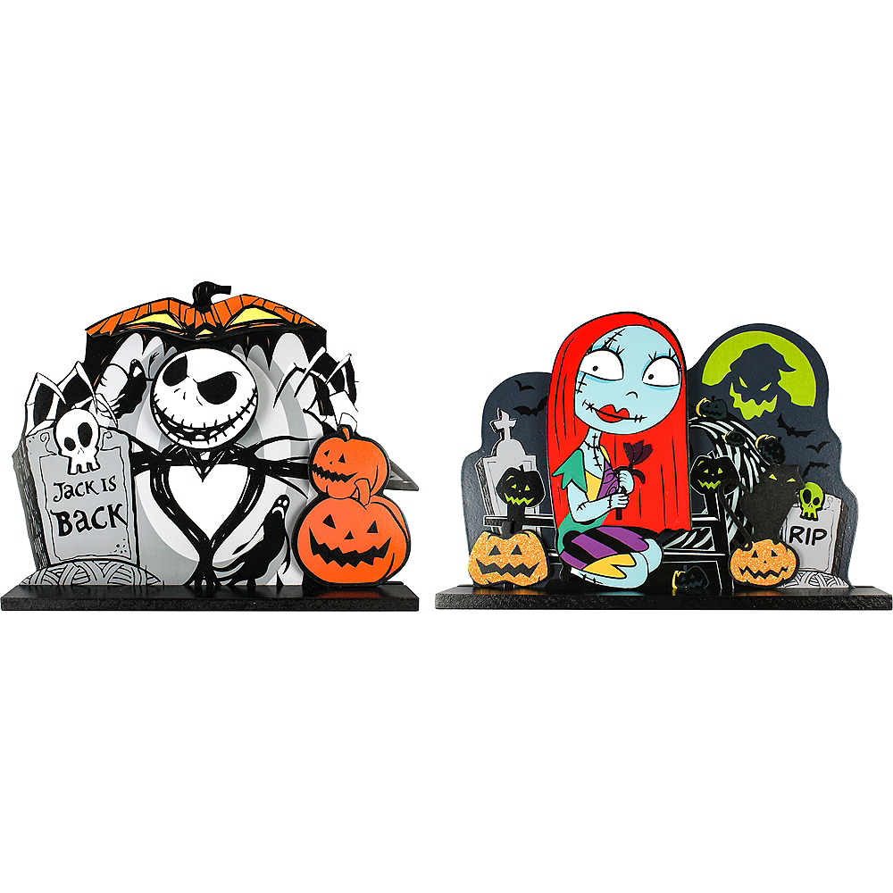 The Nightmare Before Christmas Table Signs 2ct