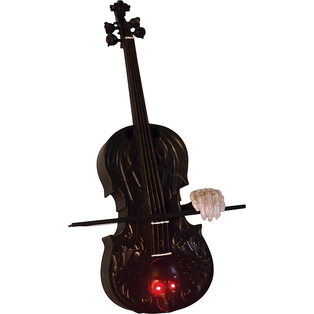Animated Skull Violin with Sound Image #2
