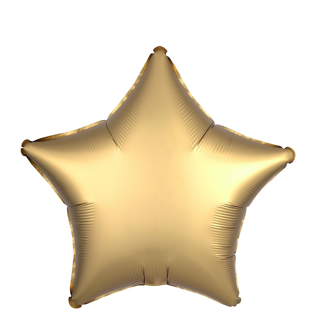 Gold & Silver Satin Star Balloon Kit Image #3