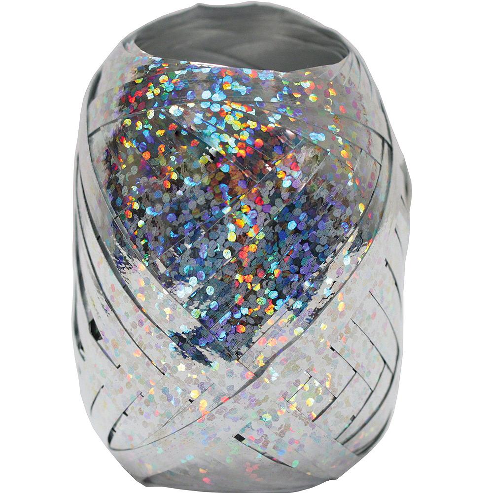 Black & Silver Satin Star Balloon Kit Image #2