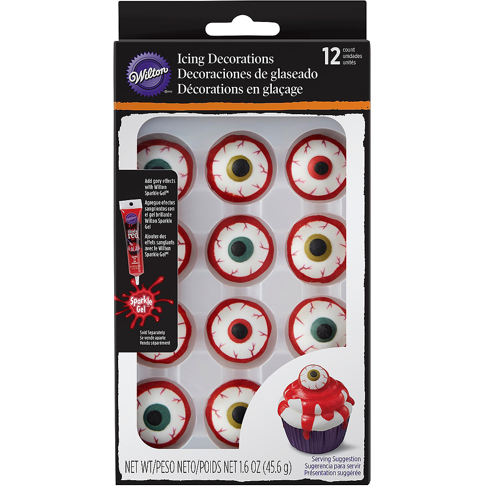 Realistic Bloody Eyeball Icing Decorations Image #1