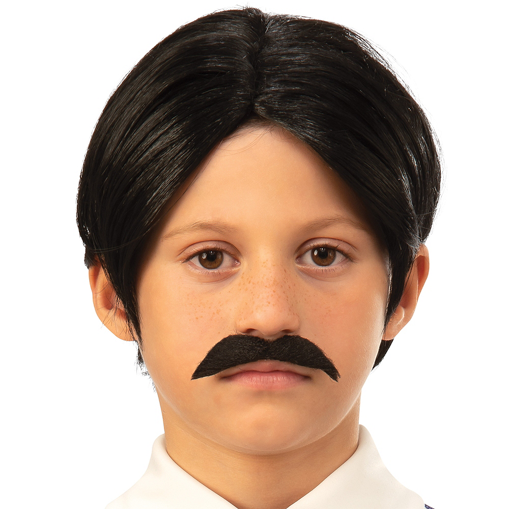 Nav Item for Child Gomez Addams Wig & Moustache - The Addams Family Animated Movie Image #1