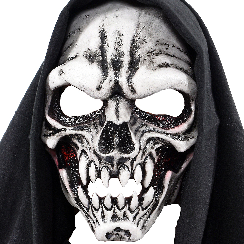 UV Hooded Skeleton Mask Image #1