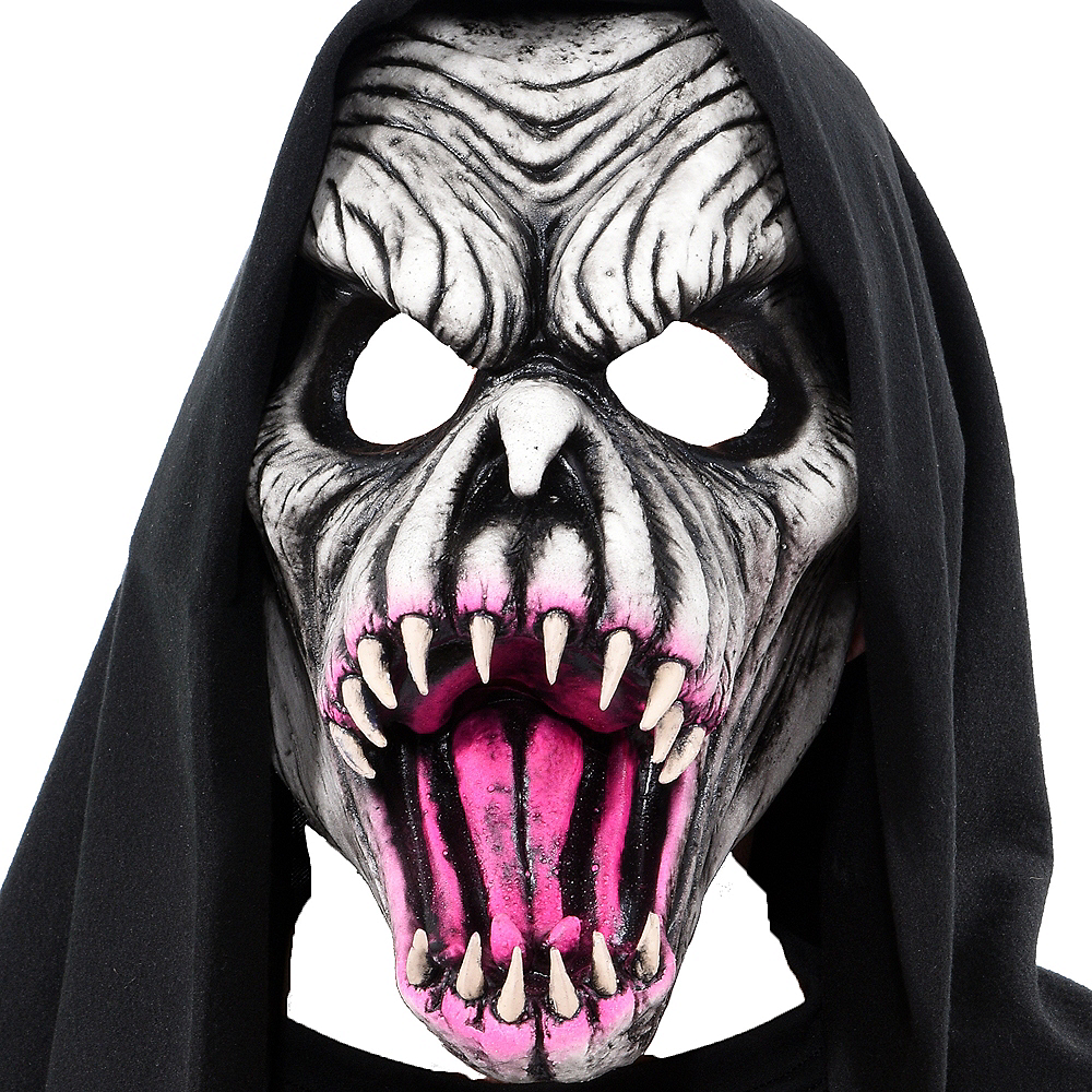 UV Hooded Fang Face Mask Image #1