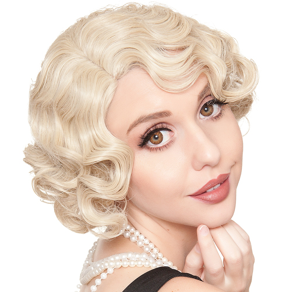 Blonde Finger Wave Flapper Wig Image #1