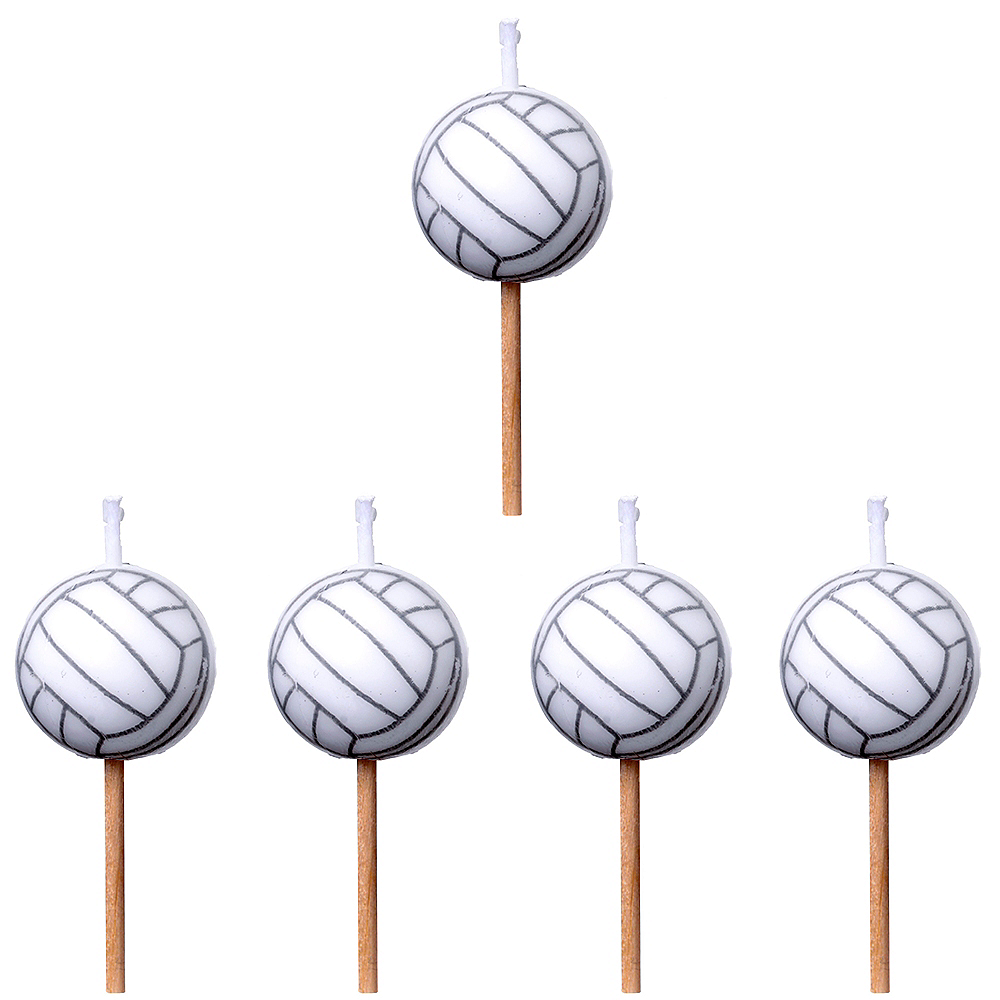 Volleyball Toothpick Candles 5ct Image #1