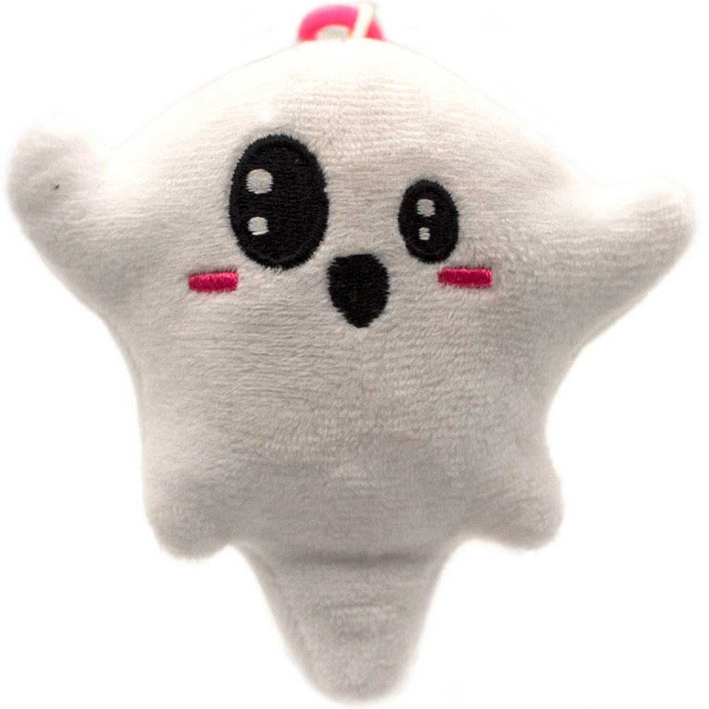 Clip-On Marshmallow-Scented Ghost Backpack Buddies Plush Image #1