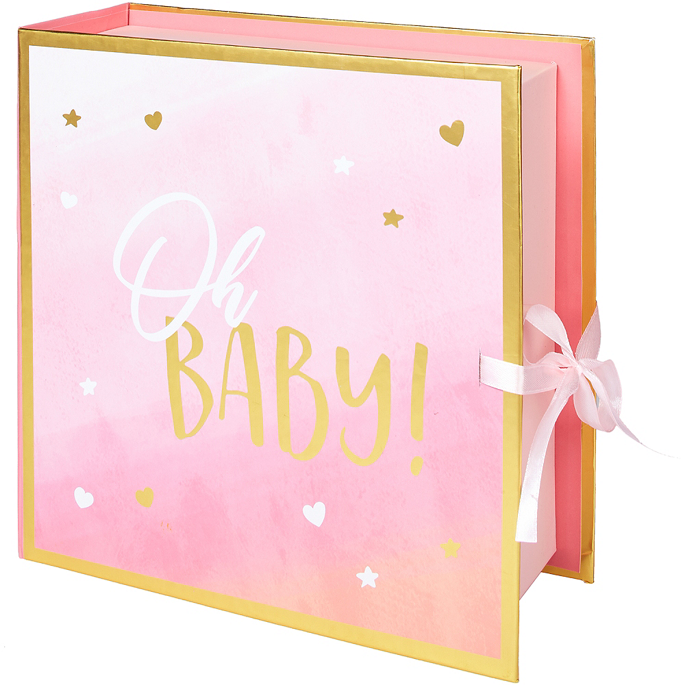 Pink Oh Baby Girl Keepsake Box Image #2