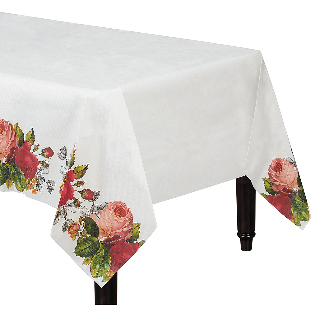 Pop Blush Rose Paper Table Cover Image #1