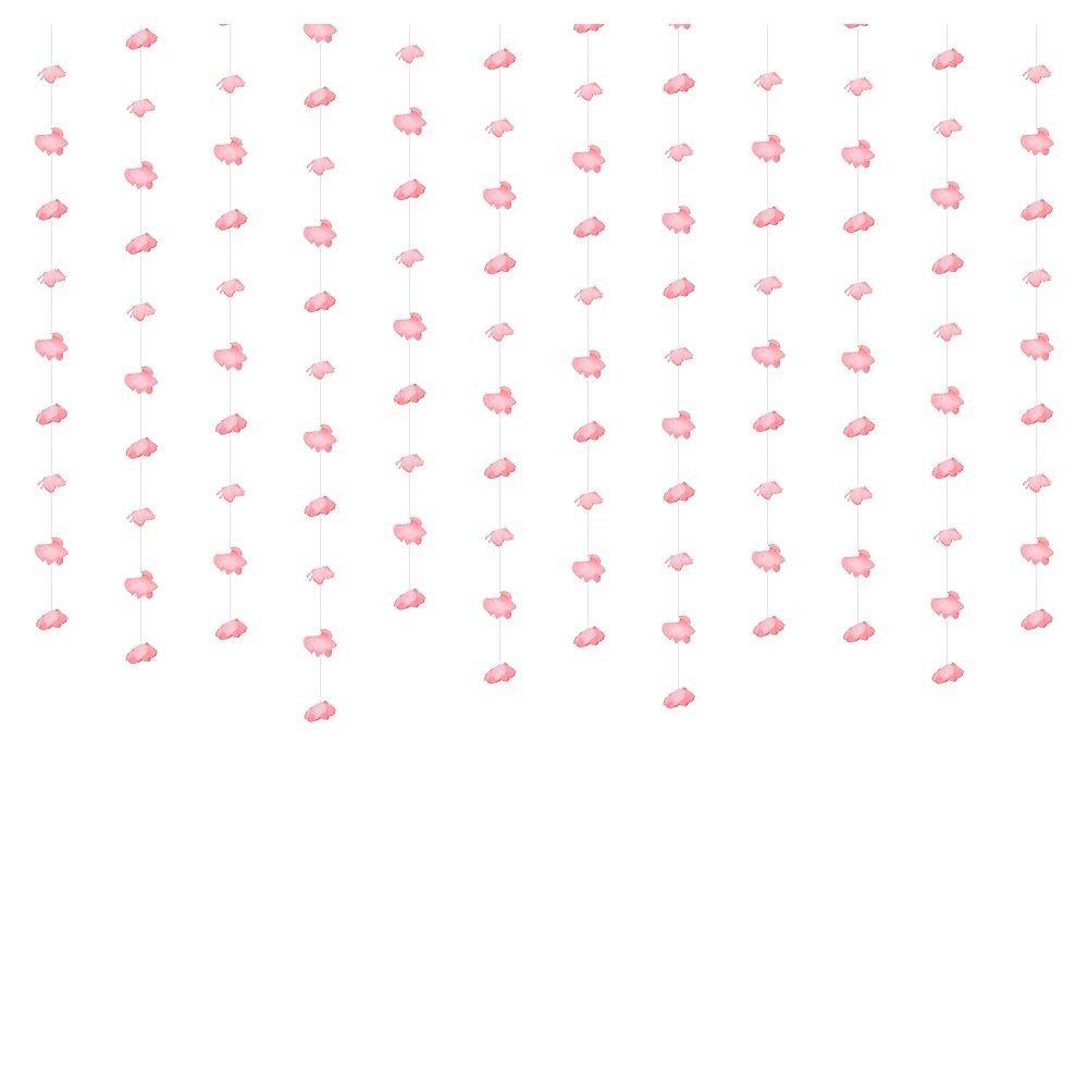 Pink Floral Photobooth Backdrop Image #1