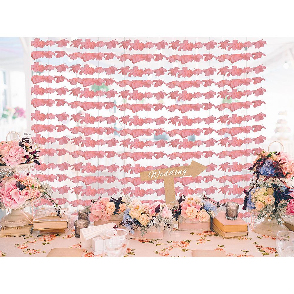 Pink Floral Photobooth Backdrop Image #2