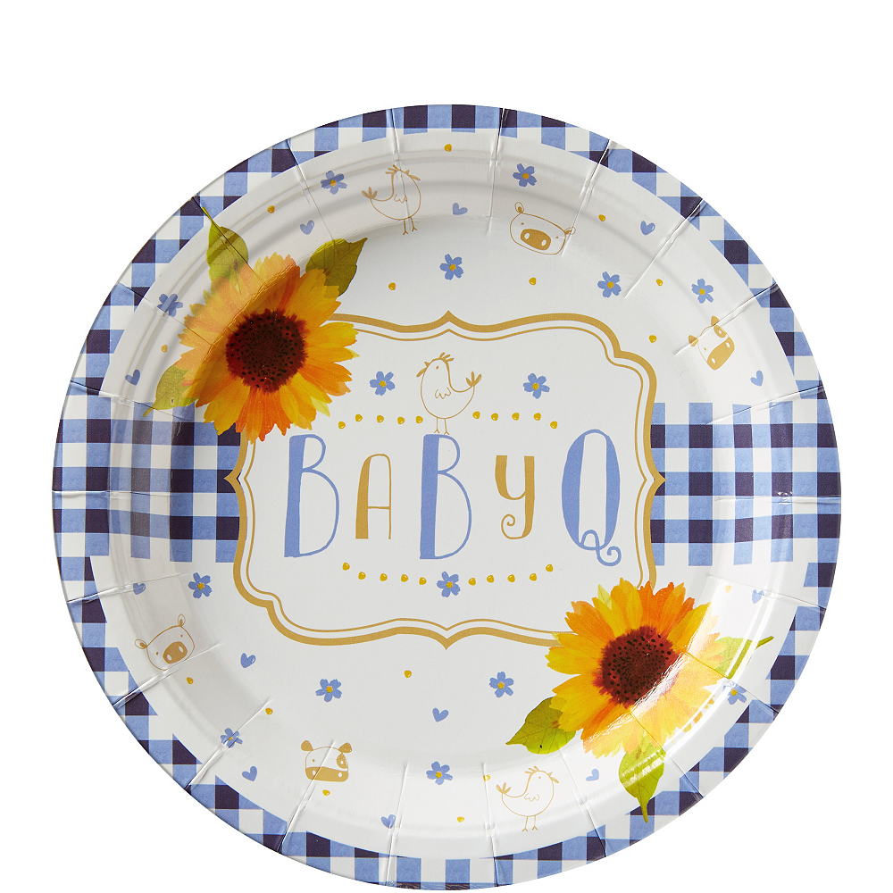 Baby Q Baby Shower Dessert Plates 8ct   Party City
