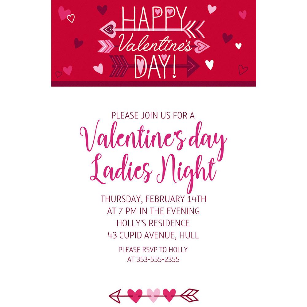 Custom Valentine Wishes Invitations Image #1
