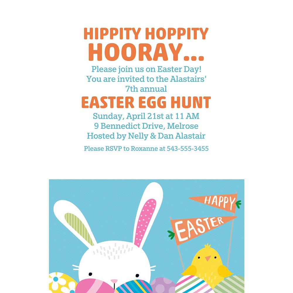 Custom Hello Bunny Invitations Image #1