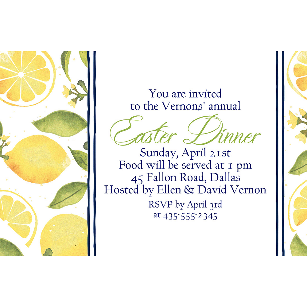 Custom Lemon Invitations Image #1