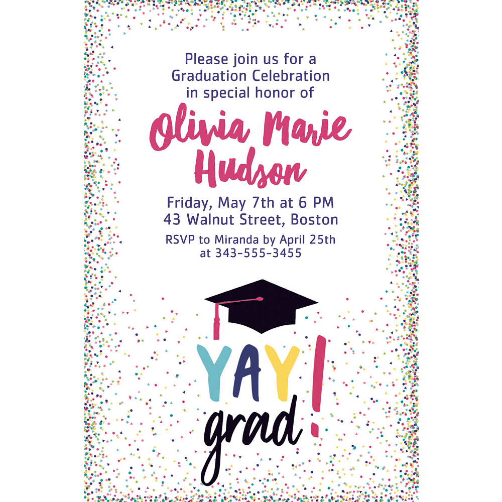 Custom Yay Grad Invitations Image #1