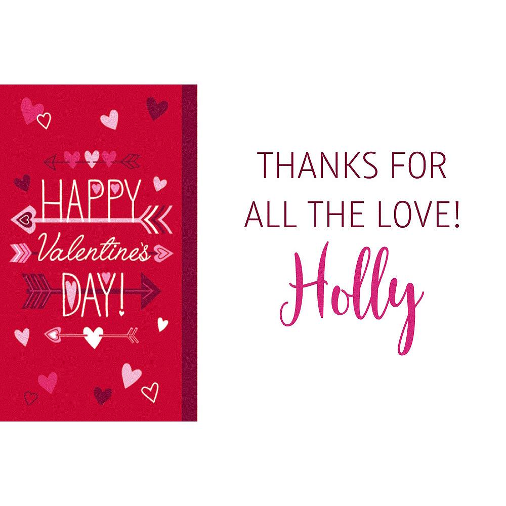 Custom Valentine Wishes Thank You Notes Image #1