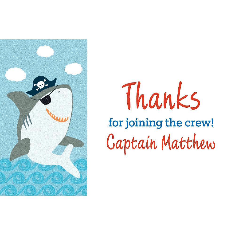 Custom Ahoy Birthday Thank You Notes Image #1
