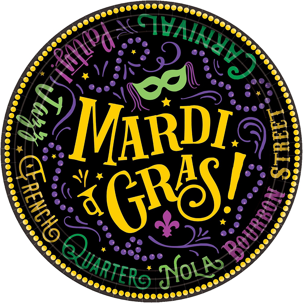 Good Times Mardi Gras Tableware Kit for 60 Guests Image #2