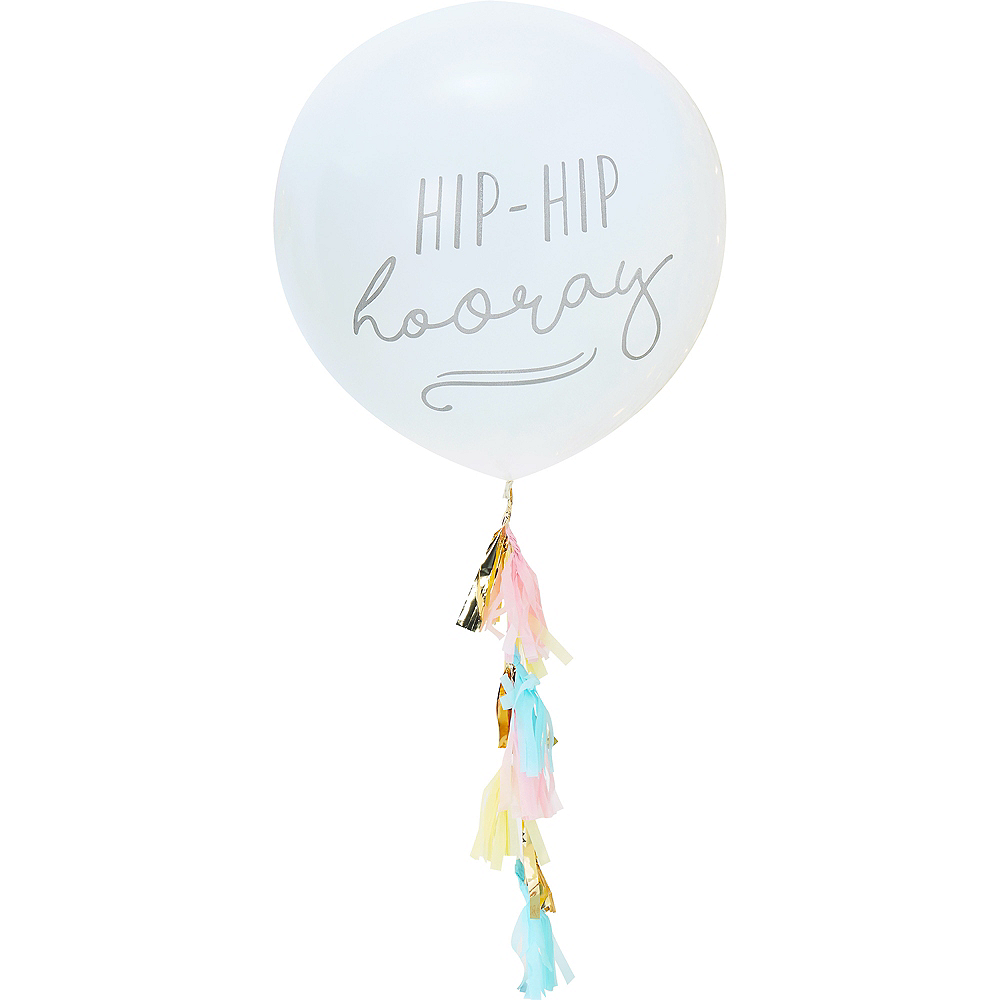 Ginger Ray Giant Hip Hip Hooray Balloon with Tassels Image #2