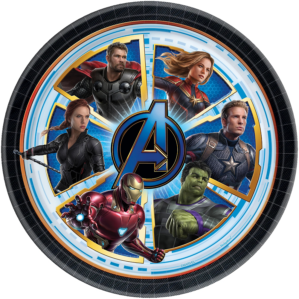 Avengers Endgame Lunch Plates 8ct Party City