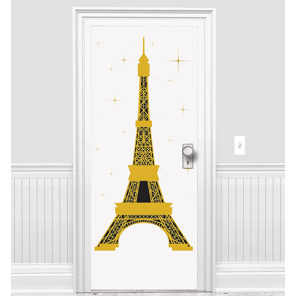 Eiffel Tower Door Cover Image #1
