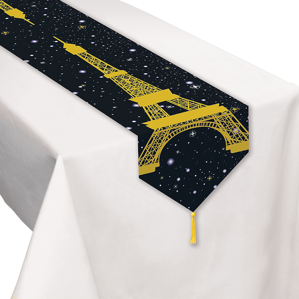 Eiffel Tower Paper Table Runner Image #1